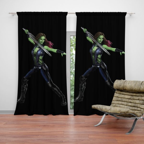 Gamora in Guardians Of The Galaxy Movie Curtain