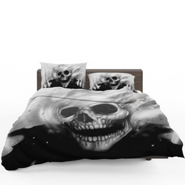 Ghost Rider Comics Creepy Skull Bedding Set 1