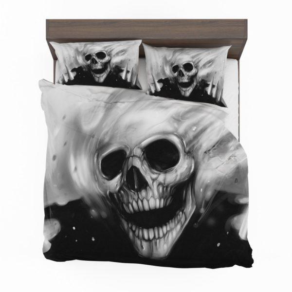 Ghost Rider Comics Creepy Skull Bedding Set 2