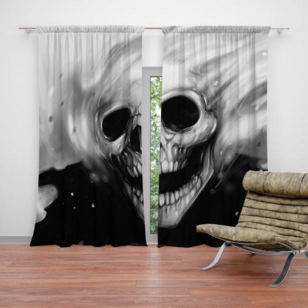 Ghost Rider Comics Creepy Skull Curtain