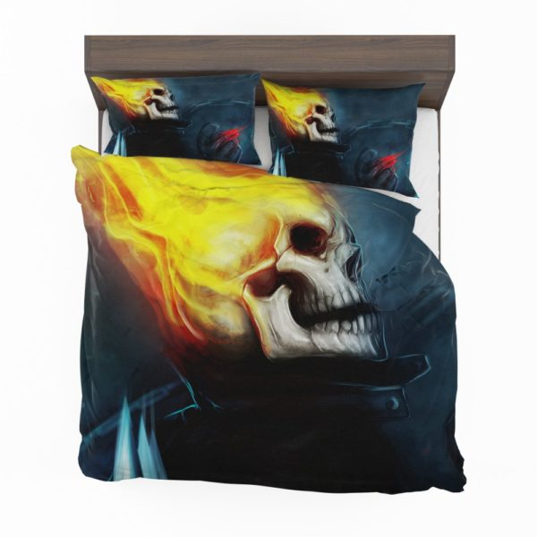 Ghost Rider Marvel Comics Skull Fantasy Artwork Bedding Set 2