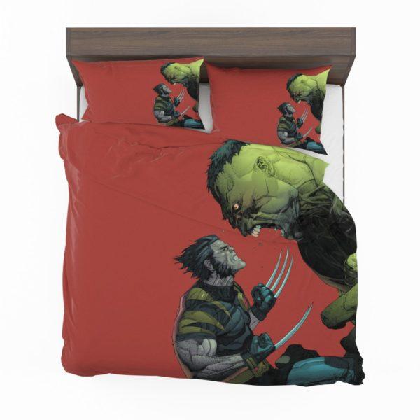 Hulk Vs Wolverine X-Men Comics Bedding Set 2