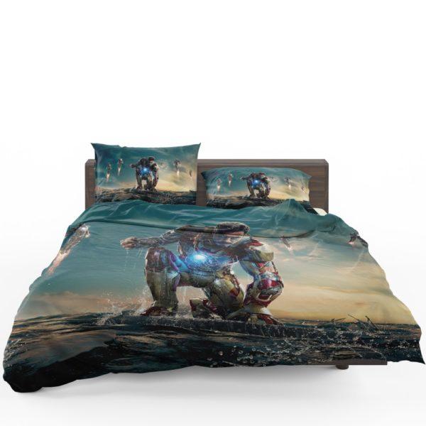 Iron Man 3 MovieTony Stark Robert Downey Jr. Bedding Set 1