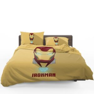 Iron Man Minimal Artwork Yellow Themed Bedding Set 1