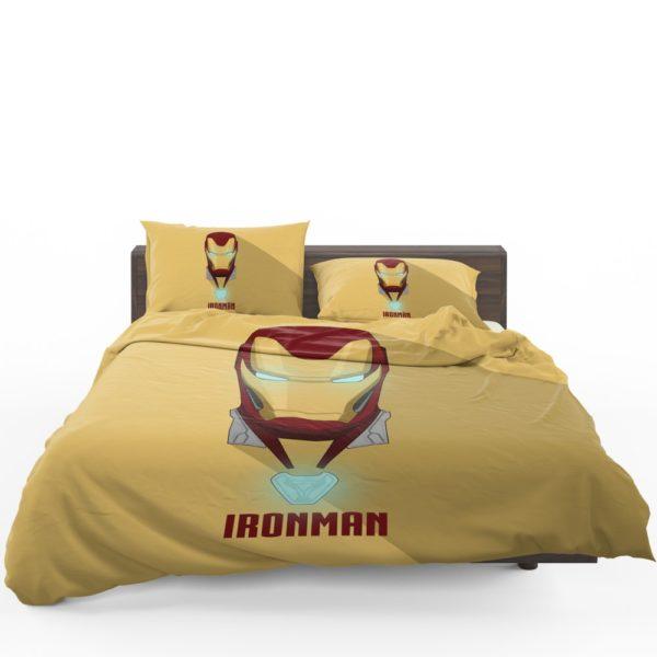 Iron Man Minimal Artwork Yellow Themed Bedding Set 1