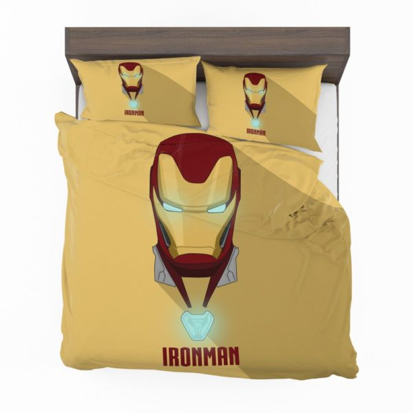 Iron Man Minimal Artwork Yellow Themed Bedding Set 2