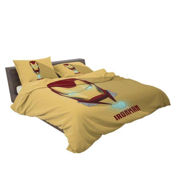 Iron Man Minimal Artwork Yellow Themed Bedding Set 3