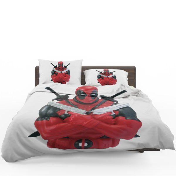 Marvel Bust Bank Deadpool Action Figures Bedding Set 1