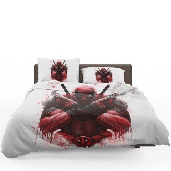 Marvel Comic Super Hero Deadpool Paint Art Bedding Set 1