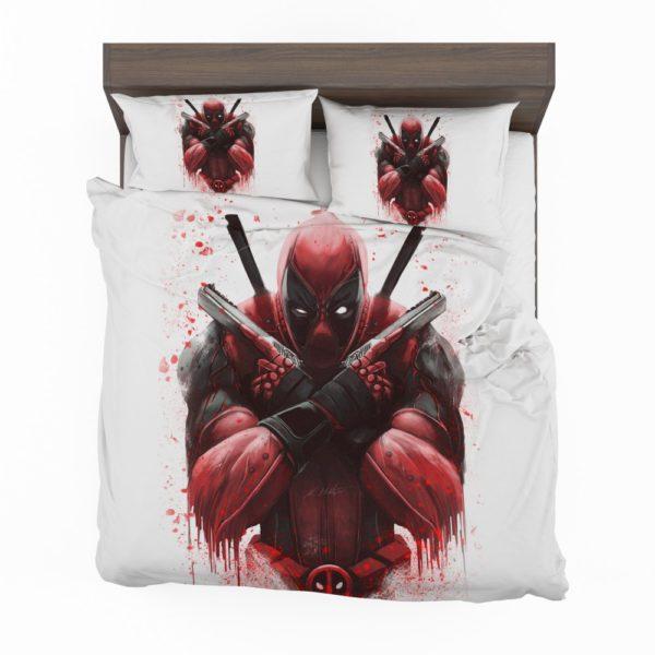 Marvel Comic Super Hero Deadpool Paint Art Bedding Set 2