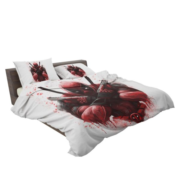 Marvel Comic Super Hero Deadpool Paint Art Bedding Set 3