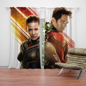 Evangeline Lilly and Paul Rudd Ant-Man Movie Curtain
