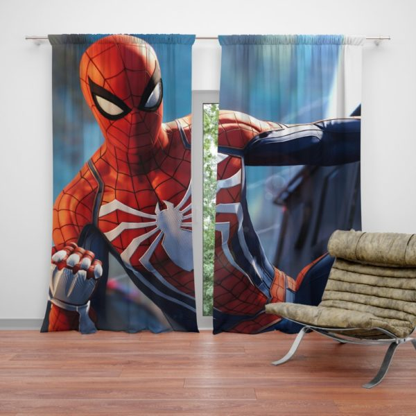 Marvel Comics Spider-Man The Avengers Shield Curtain