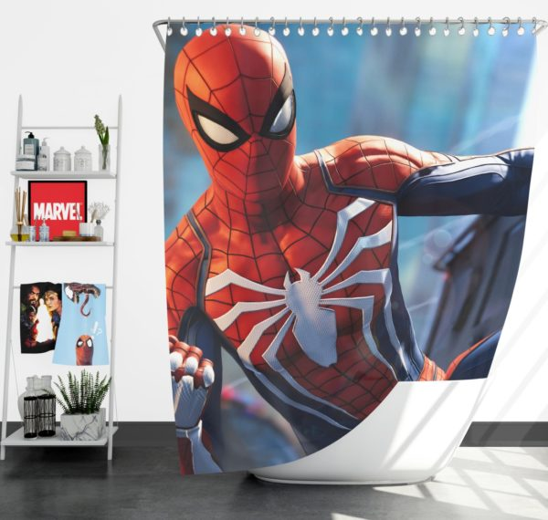 Marvel Comics Spider-Man The Avengers Shield Shower Curtain