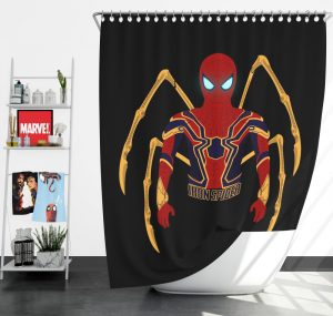 Marvel Iron Spider Armor Shower Curtain
