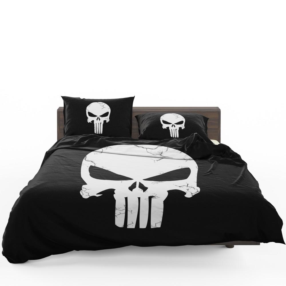 Marvel Punisher Logo Original Sin Bedding Set Super
