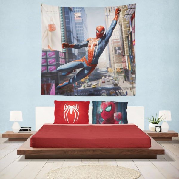 Marvel's Spider-Man PS4 Video Game Hanging Wall Tapestry