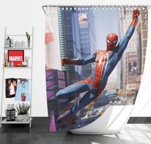 Marvel's Spider-Man PS4 Video Game Shower Curtain
