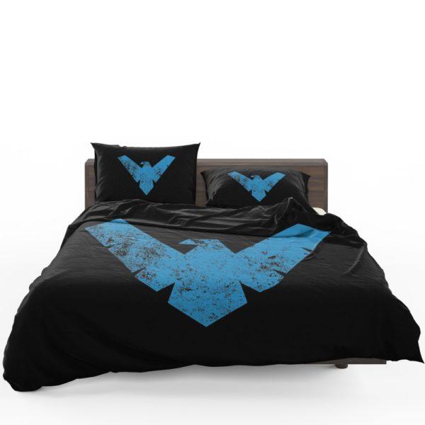 Nightwing Logo Print Teen Boys Comforter Set 1