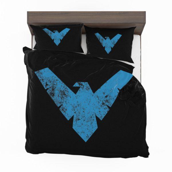 Nightwing Logo Print Teen Boys Comforter Set 2