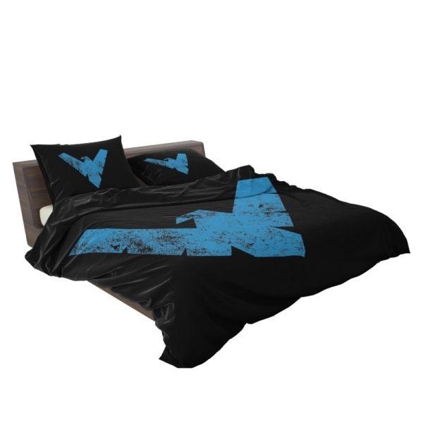 Nightwing Logo Print Teen Boys Comforter Set 3