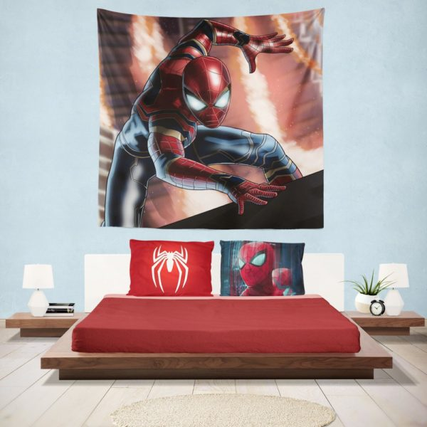 Peter Parker Iron Spider Infinity War Hanging Wall Tapestry