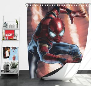 Peter Parker Iron Spider Infinity War Shower Curtain