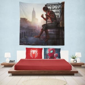 Peter Parker Spider-Man Homecoming Marvel Movie Hanging Wall Tapestry