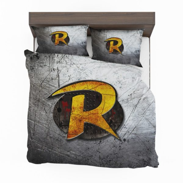 Robin DC Detective Comics Logo Bedding Set 2