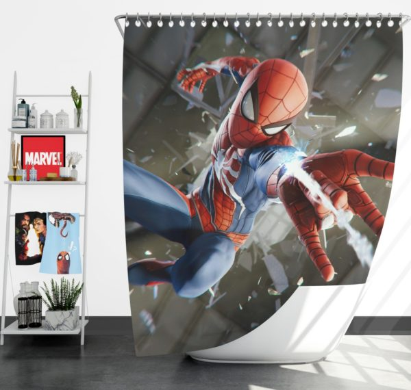Spider-Man American Comic Book Super Hero Shower Curtain