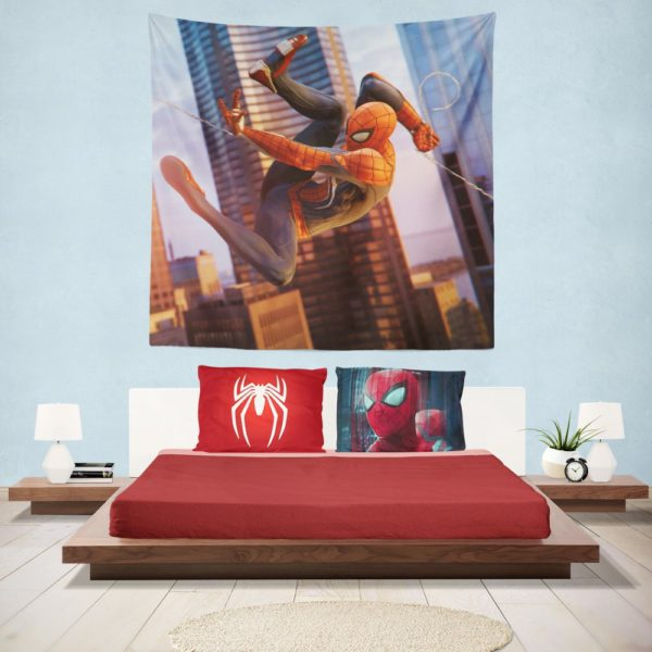 Spider-Man Fictional Super Hero Hanging Wall Tapestry
