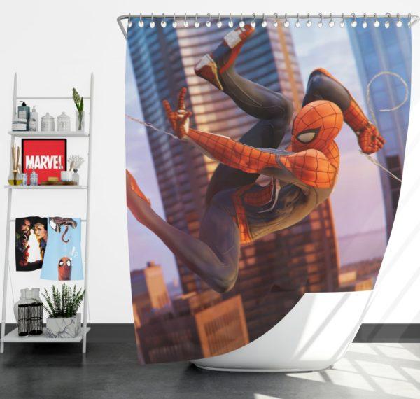 Spider-Man Fictional Super Hero Shower Curtain