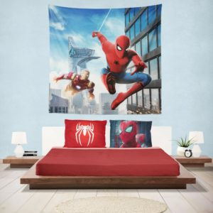 Spider-Man Homecoming Iron Man Hanging Wall Tapestry
