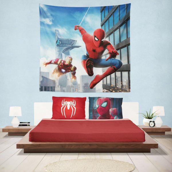 Spider-Man Homecoming Iron Man Hanging Wall Tapestry