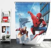 Spider-Man Homecoming Iron Man Shower Curtain
