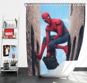 Spider-Man Homecoming Marvel Movie Shower Curtain