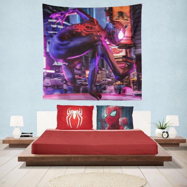 Spider-Man Into The Spider-Verse Hanging Wall Tapestry