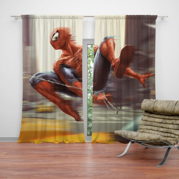 Spider-Man New York City New Avengers Curtain