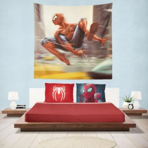 Spider-Man New York City New Avengers Hanging Wall Tapestry