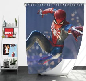 Spider Man PS4 Gameplay Shower Curtain