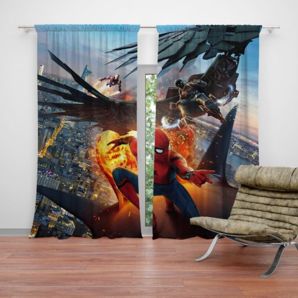 Spider-Man Vulture and Iron Man Curtain