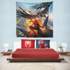 Spider-Man Vulture and Iron Man Hanging Wall Tapestry