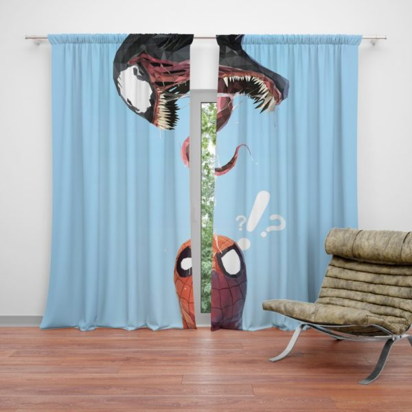 Spider-Man and Venom Marvel Curtain