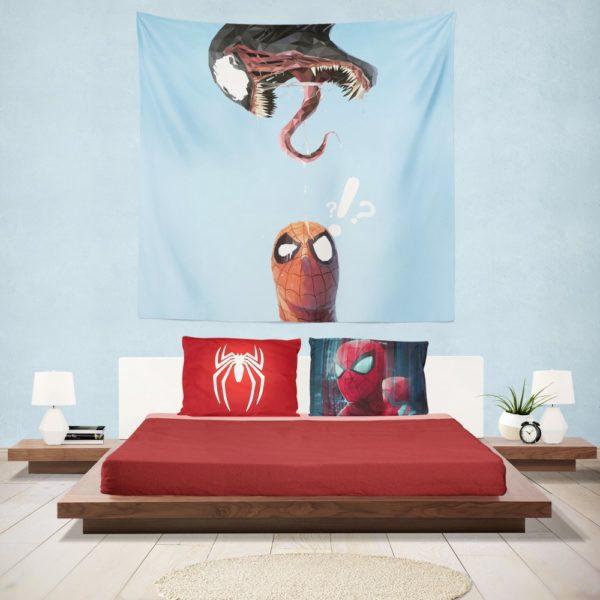 Spider-Man and Venom Marvel Hanging Wall Tapestry