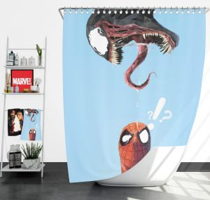 Spider-Man and Venom Marvel Shower Curtain