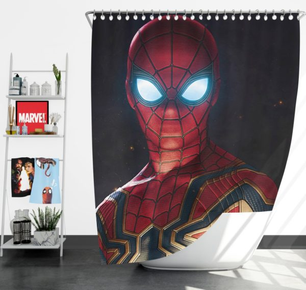 Spider-Man in Marvel Avengers Infinity War Movie Shower Curtain