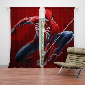 Spider-Man in Play Station 4 Video Game Curtain