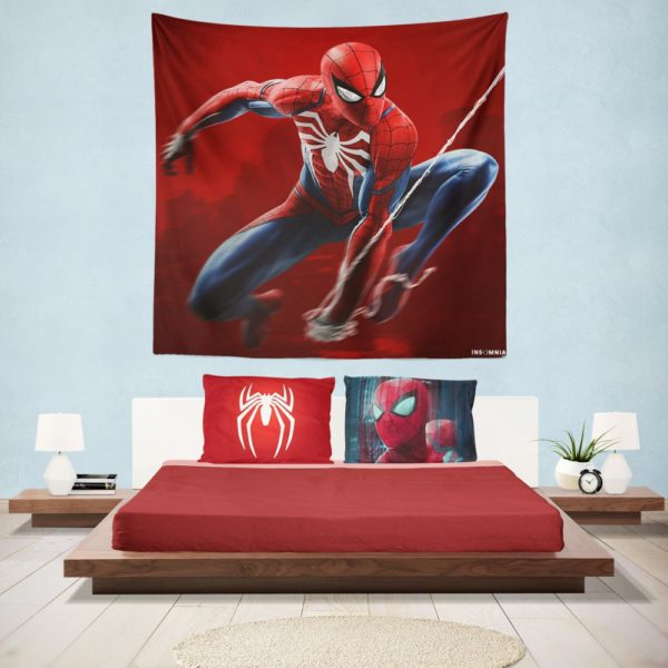 Spider-Man in Play Station 4 Video Game Hanging Wall Tapestry