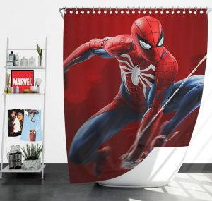 Spider-Man in Play Station 4 Video Game Shower Curtain