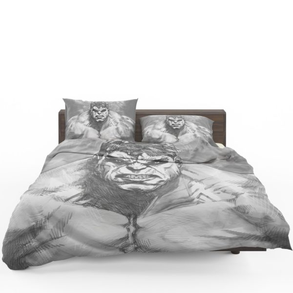 The Hulk Black And White Sketch Bedding Set 1